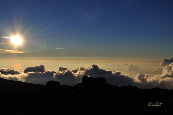 Hawaii Maui Haleakala NP clouds view sig