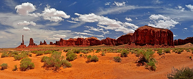 Monument Valley Coral Sands Panorama b, UT