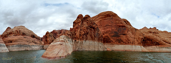 Lake Powell, rock like sleeping dinosaur, UT sig