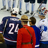Jarred Tinordi (USA - 24), Sami Aittokallio (FIN - 30)  - The Finland National Junior Team defeated the U.S. National Junior Team 4-1 in pool play of the World Junior Championships on December 28, 2011, at the Rexhall Centre, in Edmonton,  Alberta, Canada.