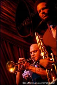 ETATS-UNIS. LOUISIANE.  La Nouvelle-Orléans. L' orchestre de jazz d'Irvin Mayfield. Irvin Mayfield's Jazz Playhouse