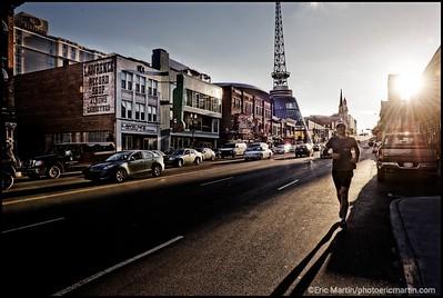 ETATS-UNIS. NASHVILLE. BROADWAY STREET.