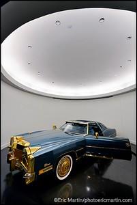 ETATS-UNIS. TENNESSEE. VILLE MEMPHIS. ETATS-UNIS. TENNESSEE. VILLE MEMPHIS. STAX MUSEUM OF AMERICAN SAOUL MUSIC. LA CADILLAC SUPERFLY CHROMé D'OR D'ISAAC HAYES