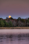 Super Moon Peaking at the Chesapeake Bay