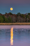 Super Moon Rising on Huntingfield Creek
