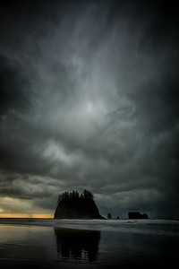 Stormy sunset, Olympic National Park