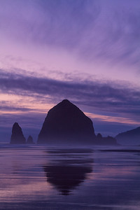 Haystack Rock reflection, Oregon Coast