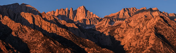 Mount Whitney seen from Lone Pine, CA