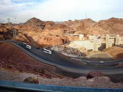 Hoover Dam on border of Nevada and Arizona