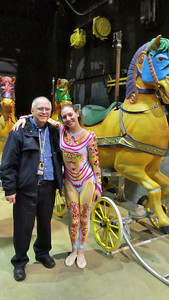 "Las Vegas February 2013 - Reagan with Cirque star backstage at ""O"""