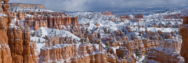 Snow-covered hoodoos, Bryce Canyon National Park