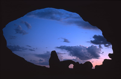 Turret Arch at sunset, Arches National Park