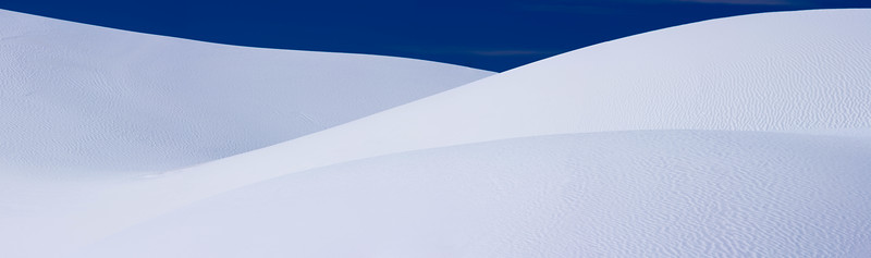 Sand dune curves, White Sands National Monument