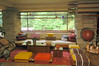 living room note colors and shapes Frank LLoyd Wright Falling Water Photos