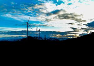 Kodiak island Alaska windmills