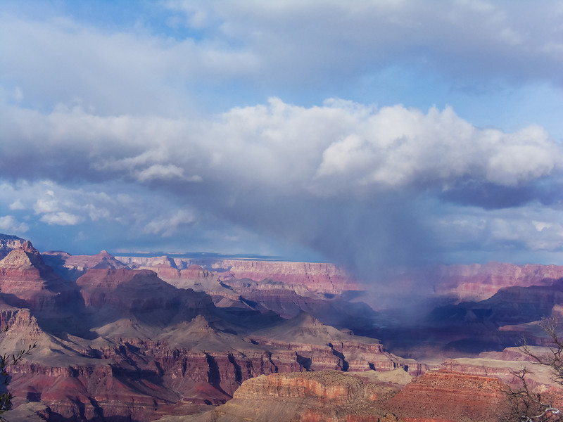 snow storm over the grand canyon