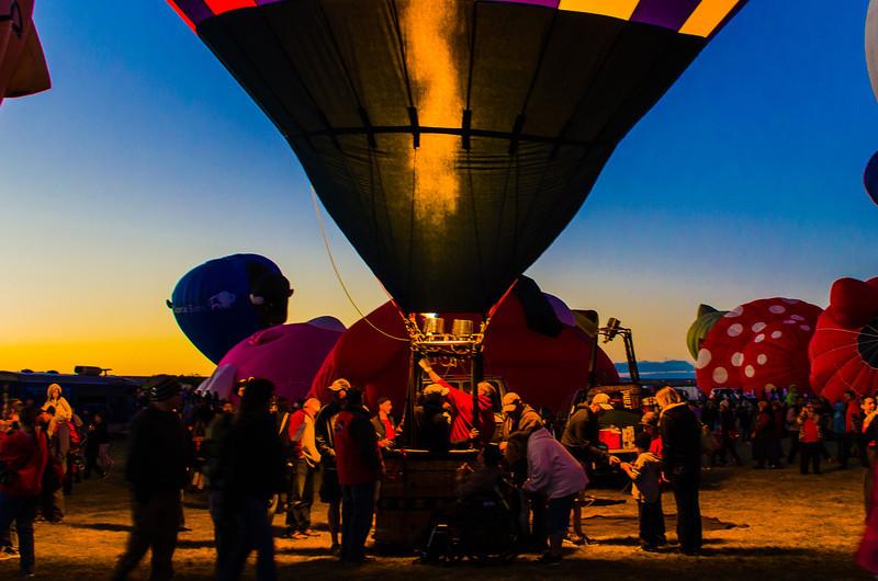 Balloon Launch at Sunset - Albuquerque Balloon Fiesta