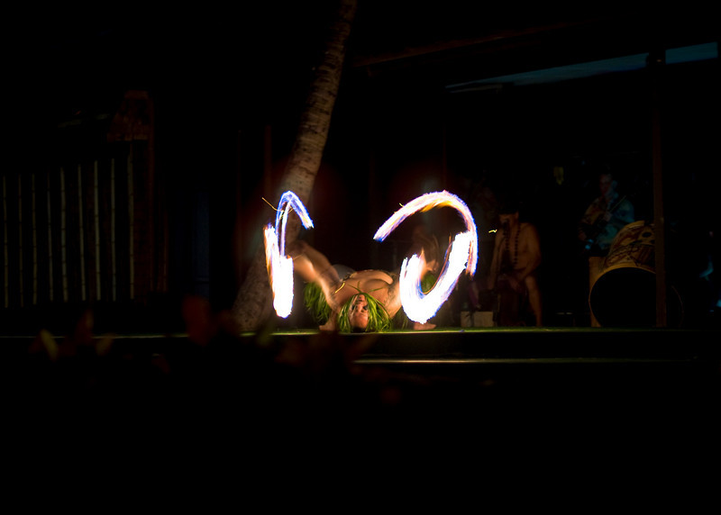 "The Samoan Fire-knife dance<br /> The Samoan Fire-Knife dance is also known as the ""Tooth of Death"". It was the highlight of the show at the Luau. In the original interpretation, this dance was performed with a dangerously sharp blade."