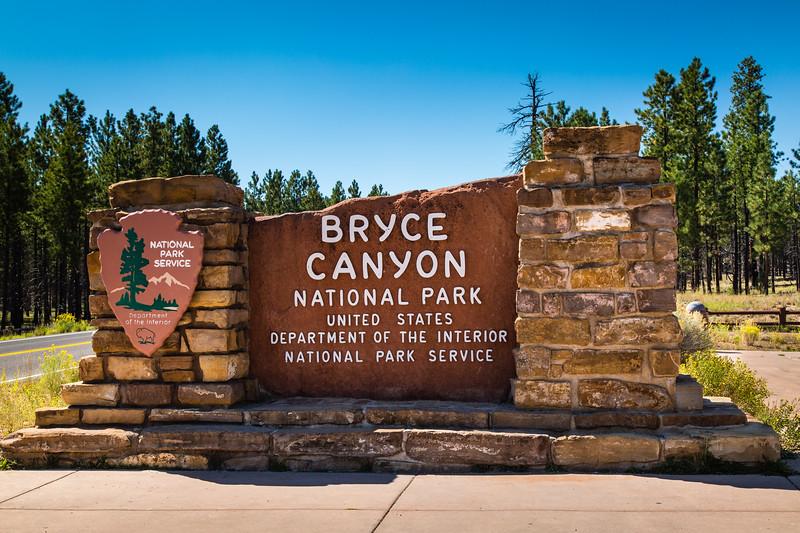 Bryce Canyon National Park Entrance