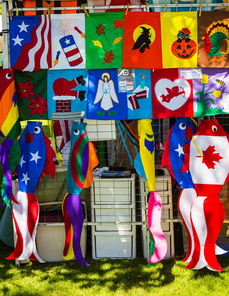 Colorful Flags and Kites