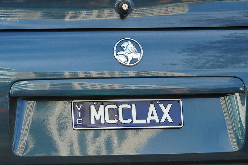 Melbourne Cricket Club, location of today's game and this license plate.