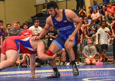 125 kg: Youssif Hemida (Terrapin WC) dec. Matt Stencel (Chippewa WC), 14-7