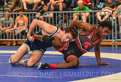 57 kg: Jack Mueller (Cavalier WC) dec. Rayvon Foley (Michigan State), 8-6