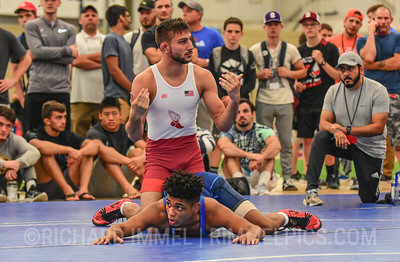 61 kg: Vitali Arujau (Finger Lakes WC) tech. fall Roman Bravo-Young (Sunnyside WC), 15-4
