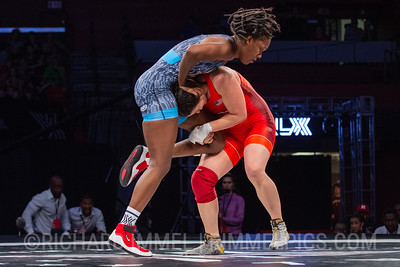 76 KG: Adeline Gray (New York Athletic Club) VFA Precious Bell (Titan Mercury), 6-0