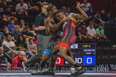 67 KG: Ellis Coleman Colorado Springs, CO (U.S. Army WCAP) VFA Jamel Johnson Jacksonville, NC (U.S. Marine Corps), 9-1 4:05