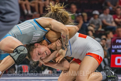 57 KG: Jenna Burkert Colorado Springs, CO (U.S. Army WCAP) VPO1 Becka Leathers Choctaw, OK (Titan Mercury Wrestling Club), 4-2