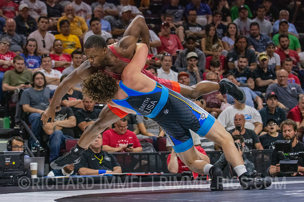 77 KG: Kamal Bey Colorado Springs, CO (Sunkist Kids Wrestling Club) VSU1 Patrick Smith Minneapolis, MN (Minnesota Storm), 11-2 3:51