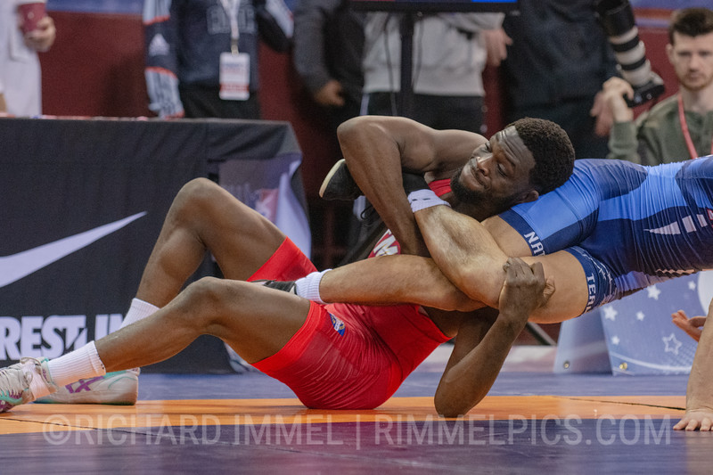 74 kg: Thomas Gantt (Titan Mercury Wrestling Club) tech. fall Yo Aklyama (Purple Valley WC), 10-0