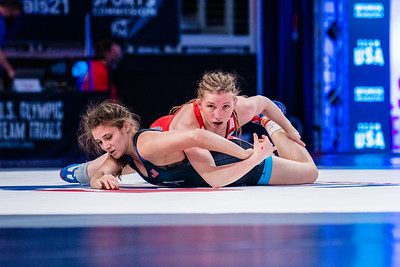 50 kg: Whitney Conder (ARMY (WCAP)) tech. fall McKayla Campbell (Tiger Wrestling Club), 12-0