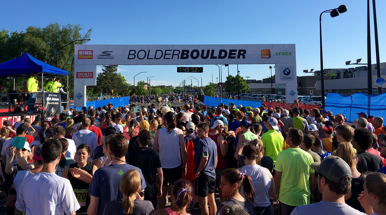 Just about to start our BolderBoulder 10km
