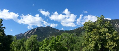 The Flatirons on a fine day