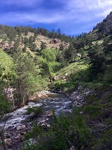 Running along Boulder Creek