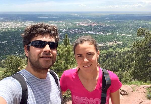 High up above Boulder