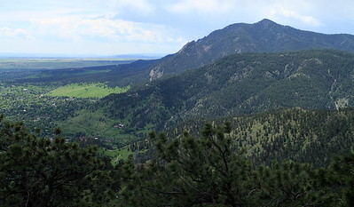 Side view of the Flatirons