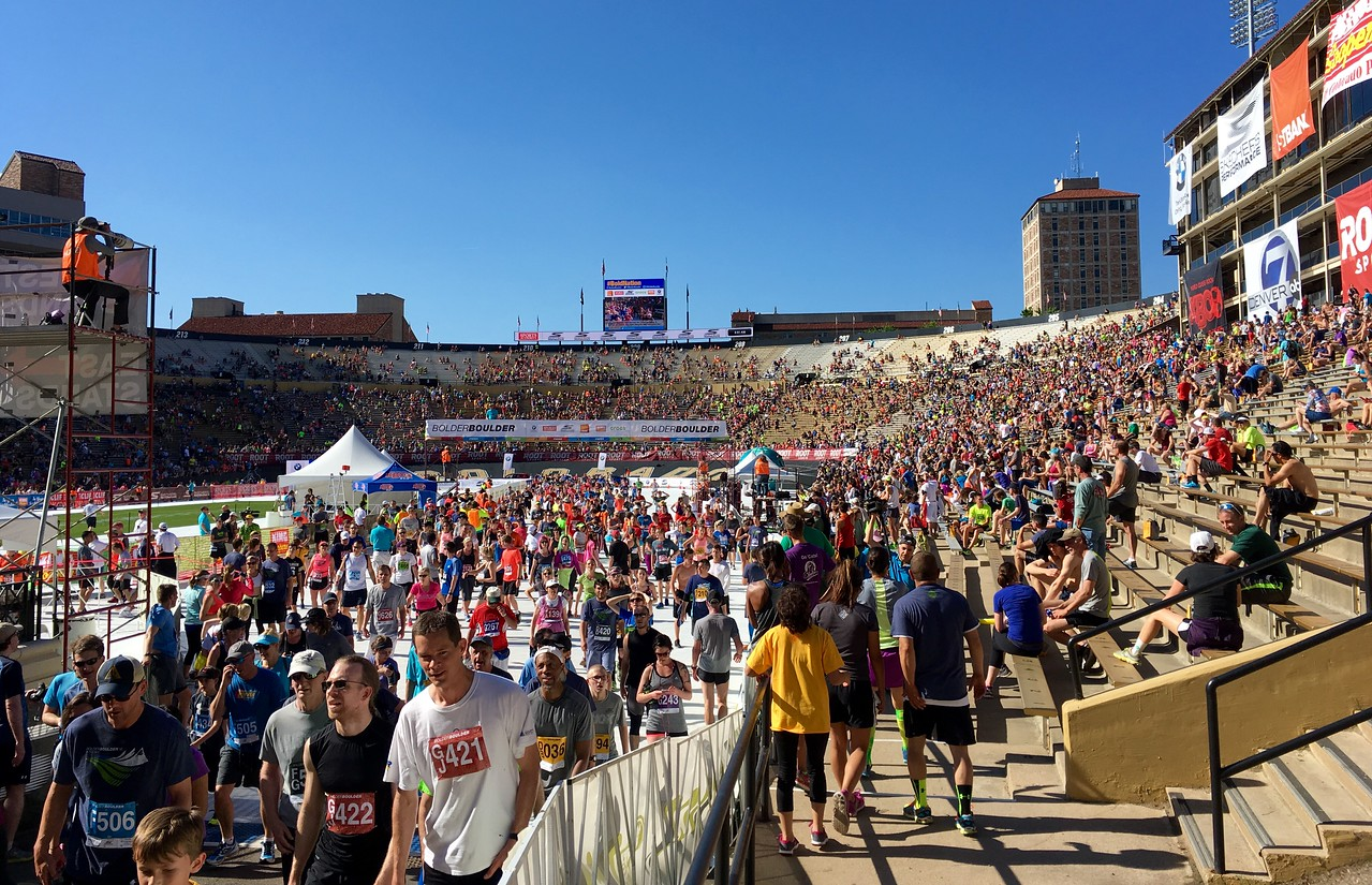 Finishing line at Folsom Field