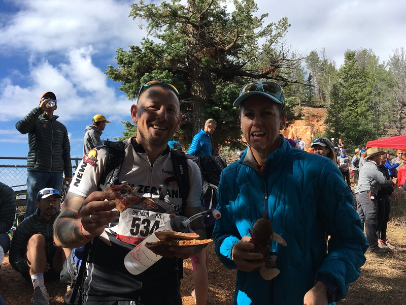Kiwis at the finish