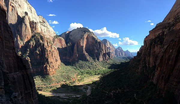 View on the run down in Angel's Landing