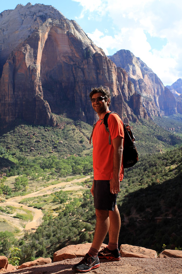 Climb up Angel's Landing Trail