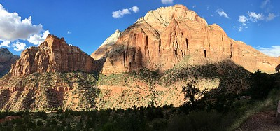 Driving up Zion-Mt Carmel Highway