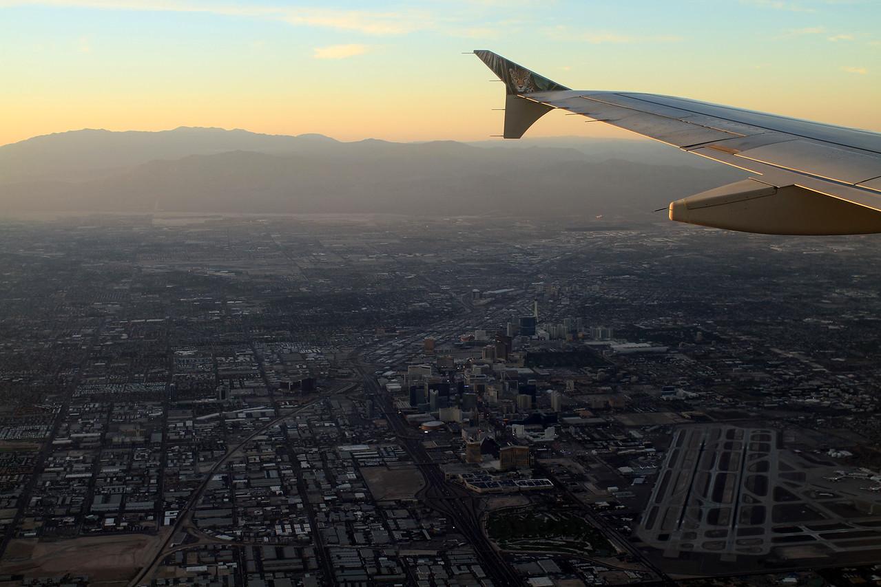 Flying over the Vegas Strip