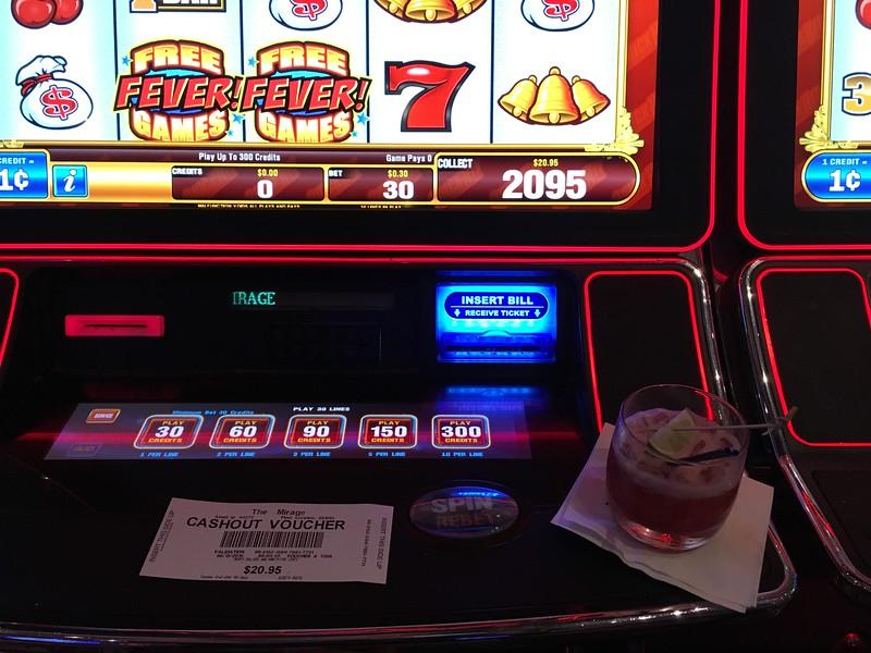 I won $20.95 on a slot machine!!!