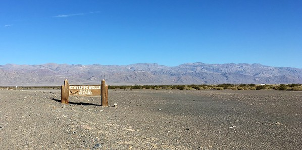 Welcome to Stovepipe Wells. Elevation 5feet above sea level