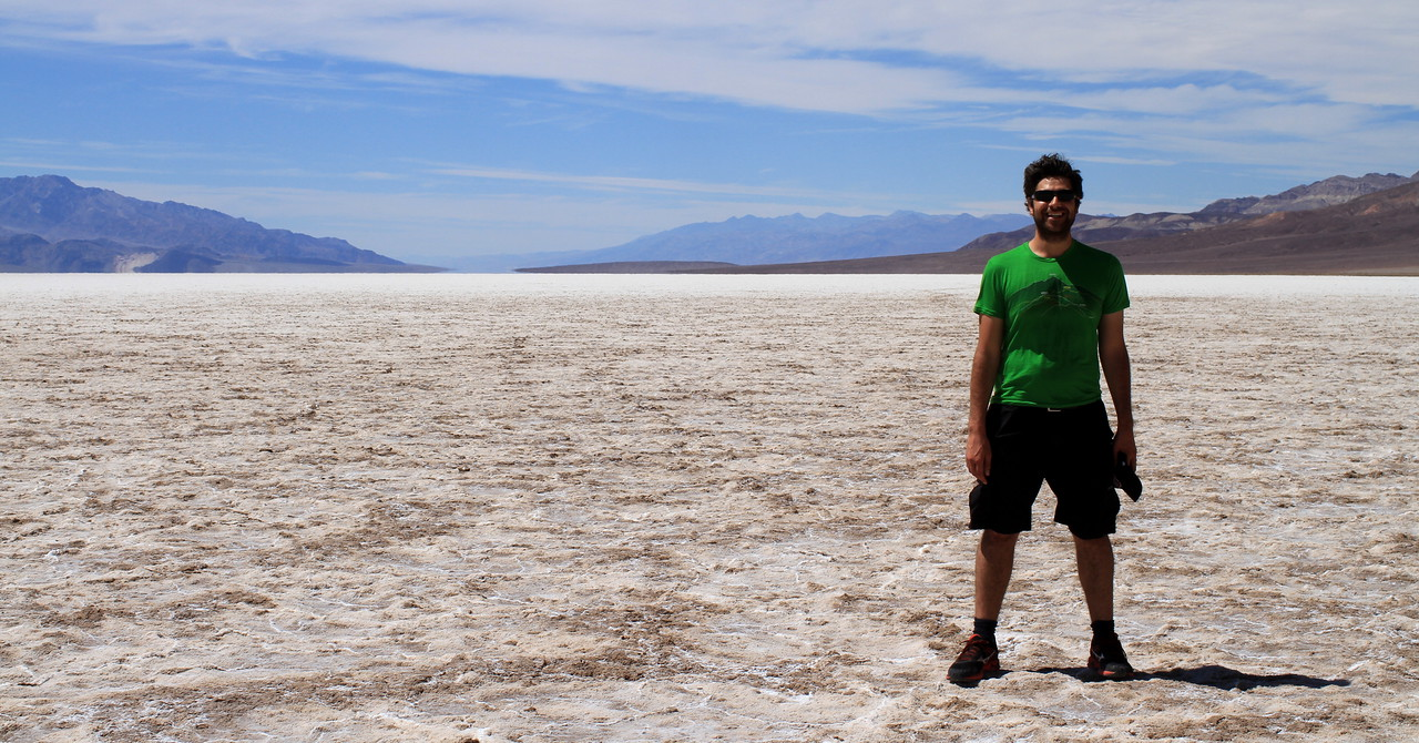 Happy Graham at salt flats