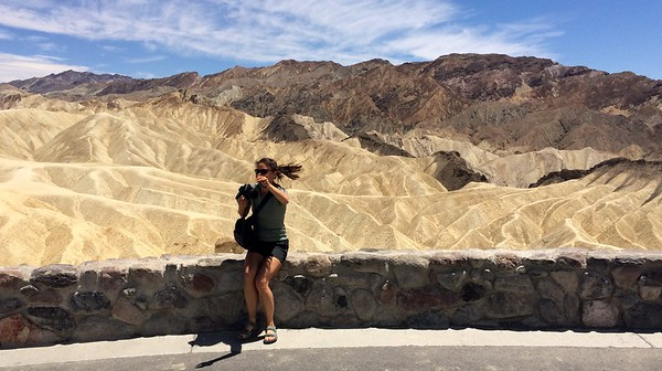 Sitting down on a hot stone in Death Valley is not as pleasant as one might think