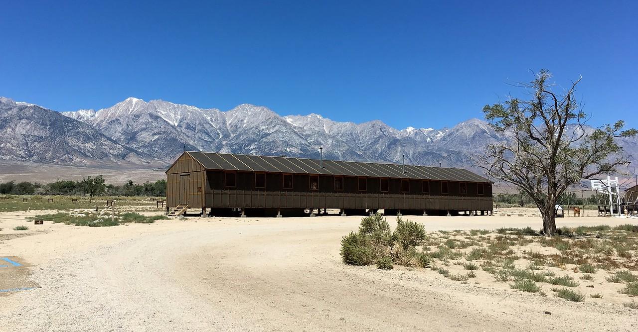 Walking around Manzanar Relocation Camp